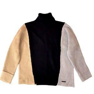 Jones NY Donwtown Glam Black Colorblock Sweater S